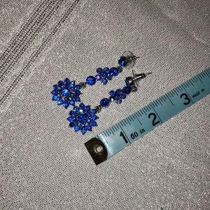 Blue statement earrings